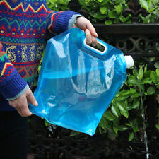 5L/10L Camping Emergency Folding Water Storage Container Carrier Bag Hiking Blue