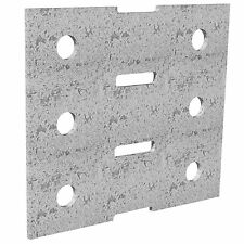 Dunnings GALVANISED BRACKET PLATE  3mm, 2 Pieces - 120x105, 200x105 Or 200x140mm