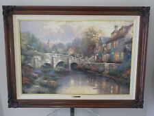 Thomas Kinkade, Cobblestone Brooke, Cobblestone Lane II, G/P Canvas with Frame
