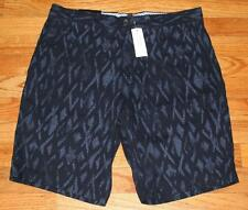 NWT Mens Banana Republic Chinos Khakis Shorts The Deck Short $54 Navy Print *C8