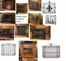 Metal Fireplace Safety Cover Panel Screen Fire Guard Mesh Gate Protective Cover