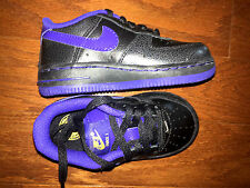 NIKE Air Force 1 TD Black DP Night Toddler Baby Infant 314194-077 Shoes Sneakers