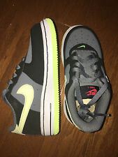 NIKE Air Force 1 TD Lime Gray Toddler Baby Infant 314194-077 Shoes Sneakers 8.5C
