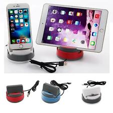 360°Rotation Desktop Car Charger Dock Stand Holder For iphone 6 7 Android Type c