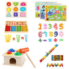 Children Wooden Toys Puzzle Kids Early Learning Educational Math Intelligence MZ