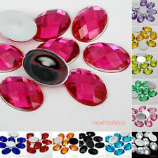 200pcs Oval Shape Colors Acrylic Flatback Rhinestones Scrapbooking Art Craft