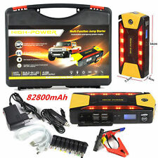 4USB 82800mAh Car Jump Starter Emergency Charger Booster Power Bank Battery SOS