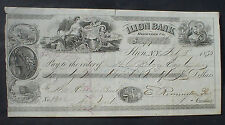 Illion Bank cheque orginal signed by Eliphalet Remington Herkimer County 1853