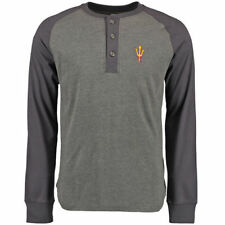 Arizona State Sun Devils Gray Lincoln Henley Long Sleeve T-Shirt
