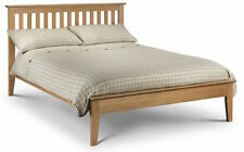 Solid American White Oak Bed Frame also Stone White or Two Tone Wooden Bedstead