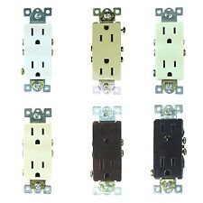 25 Pack 15A Decorator Style Residential Plug Duplex 125V Outlet Receptacles