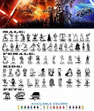 All Star Wars Family Car Vinyl Decal Sticker StarWars Window Laptop Look-Alikes