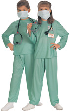 Child ER Doctor Surgeon Scrubs Hospital Fancy Dress Costume Outfit Unisex