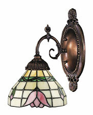 Tulip Mix-N-Match 1-Light Tiffany-Style Wall Sconce by ELK Lighting