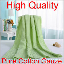 Green 95x120cm Baby Soft Comfortable Pure Cotton Gauze Bath Towel Breathable