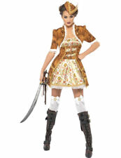 Ladies Steam Punk Steampunk Victorian Sexy Pirate Fancy Dress Costume