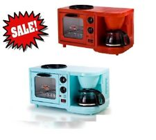 3-in-1 Mini Breakfast Shoppe Coffee Maker Toaster Oven Griddle All In One Bar