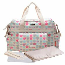 Bellotte Collection Tote Diaper Bag, Polyster, Bears/Fall/Brown Flower