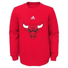 "Chicago Bulls Youth NBA Adidas ""Primary"" Pullover Crew Fleece Sweatshirt"