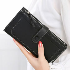Women Ladies Zipper Buckles Long Purse Clutch Card Holder Checkbook Wallets