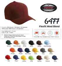 NWT Premium Flexfit Fitted Hat Wool Blend Baseball Cap 6477 All Colors/Sizes