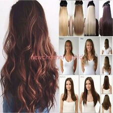 100% Real Thick Clip In Hair Extensions Long Curly Full Head Hair Extentions FA