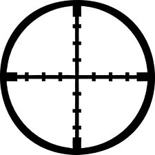 Crosshairs Vinyl Sticker Decal Military Sniper Hunt StyleB - Choose Size & Color