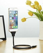 Flexible Mobile Phone Holder Stand Charging Cable for Andriod and iPhone Car GPS