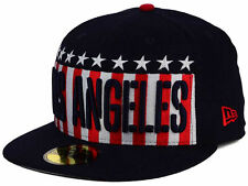 Los Angeles Dodgers New Era MLB Big USA 59FIFTY Cap Navy Fitted Flag Hat NWT