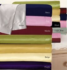 FULL SIZE SATIN SILK 1000TC DUVET COVER / FITTED SHEET / SHEET SET ALL COLOR