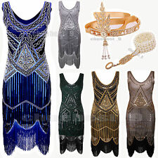 Gatsby 1920's Flapper Dress Party Fringe Wedding Plus Size Vintage Style Dresses