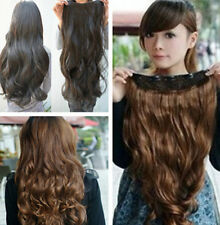 Extensions Long Hair Hair Clip 5 Clips Curly One Piece Synthetic in Wavy