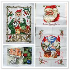 """New Finished Completed Cross Stitch needlepoint """"Santa Claus""""freeshipping to USA"""