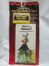 Vintage 1986 FISHER PRICE Just Ask Book & Tape What Is A Volcano NRFP!