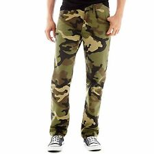 Arizona Mens Jeans Slim fit Straight leg camouflage cotton sizes 29 30 32 NEW