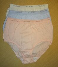 New Women's Hanes Cotton Briefs 3 loose pair - Assorted Colors-Size: Small (4-8)
