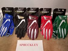 NIKE SUPERBAD 4 ADULT PADDED FOOTBALL RECEIVER  GLOVES, GF0494 , NWT