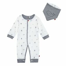 J By Jasper Conran Baby Boys' White Boat And Whale Print Romper Suit And Bib Set