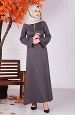 Sefamerve Gray Hijab Dress