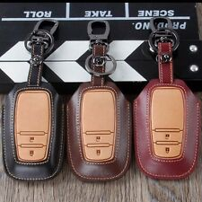 Leather Car Key Case Cover For Toyota RAV4 2 Buttons Smart Car Key