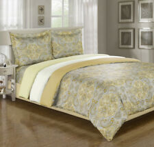 Paisley Duvet Cover Set With Shams, Wrinkle Free Microfiber, 3 Colors