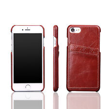 Luxury Ultra-thin Genuine Leather Back Skin Case Cover Skin For Apple iPhone 7