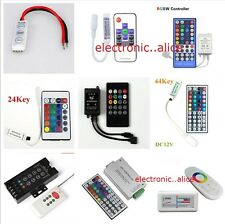24/44 Key Music WiFi IR Remote Double Lines Controller For 5050 RGB Led Strips