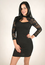 New Womens Lace Arm Bustier Bodycon Party Dress