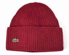 Lacoste Men's Ribbed Wool Turned Edge Beanie Bordeaux (RB274951 2JX)