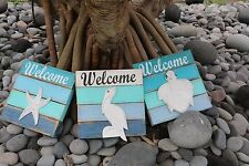 NEW Balinese Hand Crafted Nautical WELCOME SIGN - 3 Styles Available