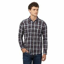 St George By Duffer Mens Brown Checked Regular Fit Shirt From Debenhams