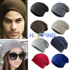 Unisex Womens Mens Knitted Beanie Hat Winter Warm Hip-Hop Ski Crochet Slouch Cap