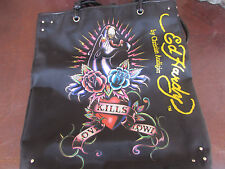 Ed Hardy by Christian Audigier Panther Love Kills Slowly Tote Bag Purse Shopper