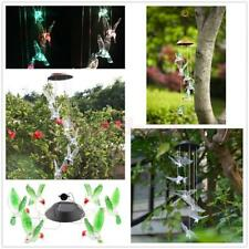 Color Changing Solar Operated Wind Chime Windchime Yard Light Garden Decor Light